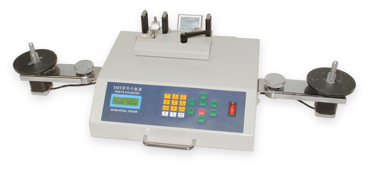 Počítačka súčiastok YS-802 s pripojením barcode čítačky a tlačiarne