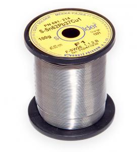 Olovnatá trubičková spájka S-Sn62Pb37Cu1 priemer 0,6 mm