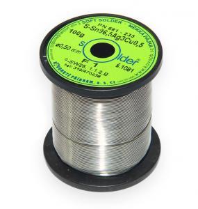 Bezolovnatá trubičková spájka S-Sn96,5Ag3Cu0,5 priemer 0,5 mm