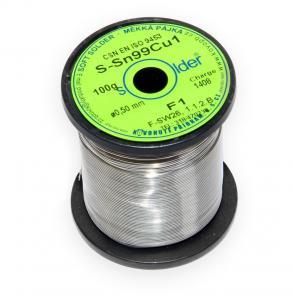 Bezolovnatá trubičková spájka S-Sn99Cu1 priemer 0,5 mm