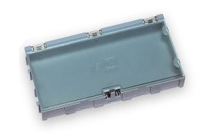 Miniatúrne plastové zásuvky na SMD súčiastky B4 - modré