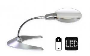 Stolná lupa s LED osvetlením na batérie GS-818-13