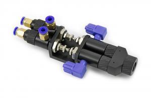 Dvojzložkový pneumaticky riadený ihlový zmiešavací ventil 065AB