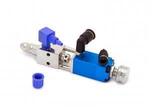 Pneumaticky riadený ihlový dávkovací ventil jednocestný VS-040