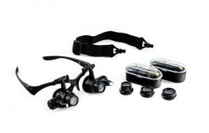 Okuliare s lupou a LED prisvietením inšpekčné 10 - 25x
