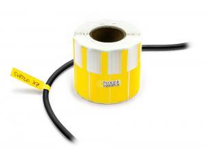 Samolepiace štítky na popisovanie káblov a drôtov 1000ks žlté