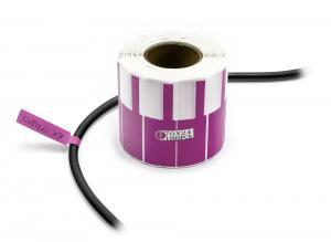 Samolepiace štítky na popisovanie káblov a drôtov 1000ks   fialové