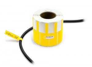 Nálepky na označovanie a popis vodičov a káblov 500ks žlté