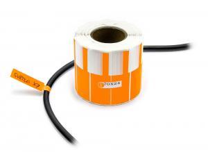 Nálepky na označovanie a popis vodičov a káblov  500ks oranžové