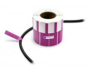 Nálepky na označovanie a popis vodičov a káblov 500ks fialové