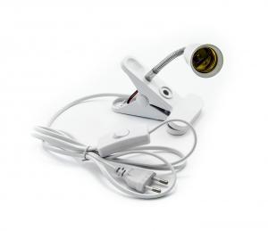 Objímka E27 s klipom, vypínačom a zástrčkou 10 cm