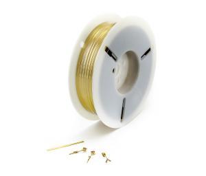 Zaväzovací drôt twistband pre viazanie vriec, sáčkov a drôtov - zlatý, cievka 1000 m