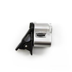 Mikroskop pre mobilné telefóny - klip s LED a UV presvietením 60x