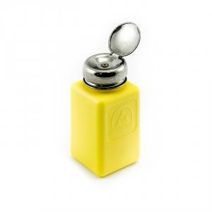 Antistatická fľaša s pumpičkou na lieh a benzín 200ml žltá