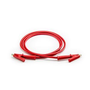 Prepojovací kábel krokosvorka 100cm červený