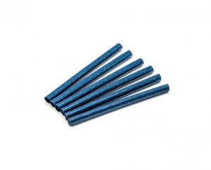 Tyčinka do tavnej pištole modrá trblietavá (glitter) 7,5mm 1ks