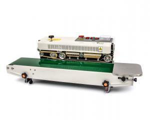 Kontinuálna zváračka fólií s dopravným pásom a tlačou expirácií DBF-770
