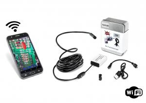 Endoskopická Wi-Fi kamera s vodotesnosťou IP66 a tvrdým ohybným káblom 5m