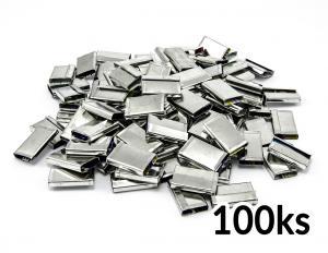 Spony viazacie plechové pre páskovanie PP a PET pásky do 16mm 100ks