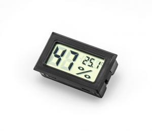 Panelový LCD vlhkomer s teplomerom čierny