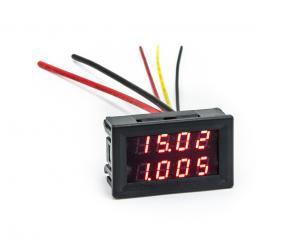 Panelový ampérmeter s voltmetrom 200V 10A