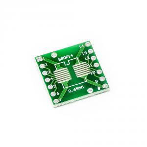 PCB redukcia z SOP14 0.65mm, SSOP14 1.27mm na DIP 2.54mm