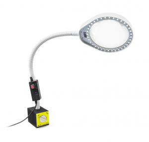 LED lampa s lupou PDOK PD-032B biela 8D 3x zväčšenie s magnetickou základňou