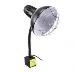 Strojová ohybná lampa s magnetom a ochrannou mrežou PDOK PD-043