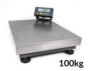 Nerezová platformová (plošinová) digitálna váha 10g / 100kg