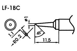 Hrot pre bezolovnaté spájky LF-1BC