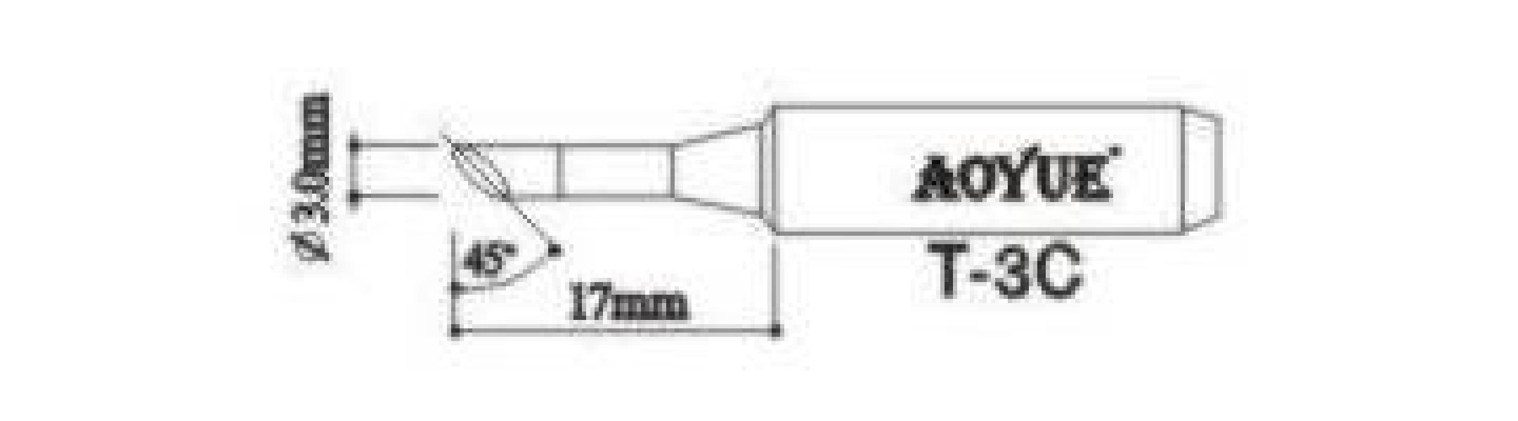 Hrot pre klasické pájky T-3C