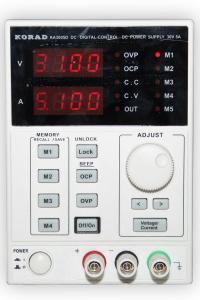 Digitálne ovládaný precízny programovateľný laboratórny zdroj 30V/5A typ KA3005D