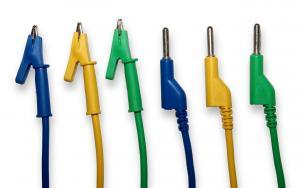 Kábel k laboratórnym zdrojom 50cm zelený