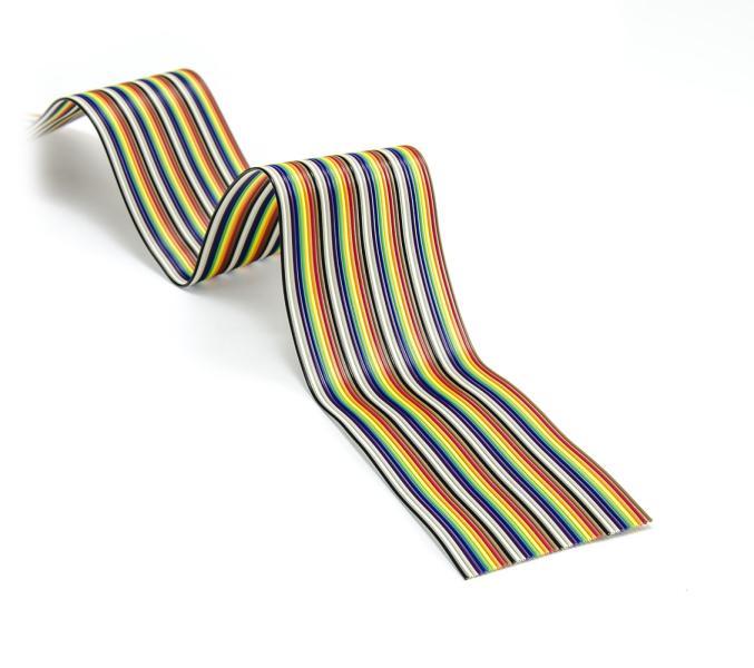 Plochý kábel (traky) FBK40 farebný, 40 žil, AWG29