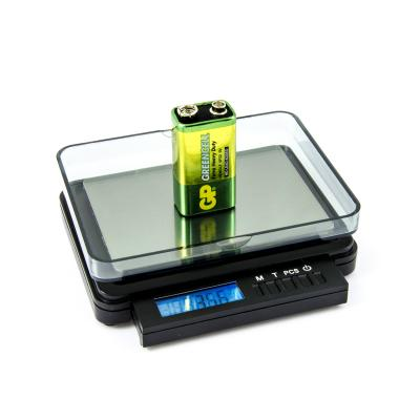 Digitálna listová váha s váživosťou 2kg a dielikom 0,1g