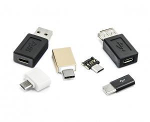 Sada 6 USB redukcií - micro USB, USB-C (type-C), USB