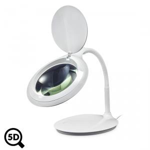 Stolná LED lampa IB-9101 s lupou 122mm, reguláciou a zväčšením 2.25x, 5D