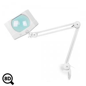 Servisná LED lampa Mega s reguláciou a veľkoplošnou lupou 8D