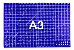 Rezná pracovná podložka modrá A3 45x30cm