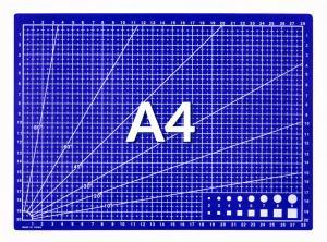 Rezná podložka modrá A4 30x22cm