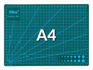 Pracovná podložka na rezanie obojstranná zelená A4 30x22cm