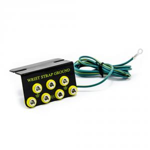 ESD uzemňovací box (svorkovica) - 7x prípojný bod, 4mm banán