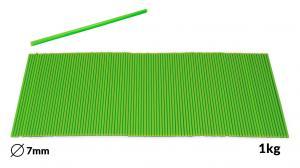 Náplne tavné zelené do lepiacej pištole priemer 7mm 1kg