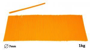 Náplne tavné oranžové do lepiacej pištole priemer 7mm 1kg