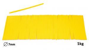 Náplne tavné žlté do lepiacej pištole priemer 7mm 1kg