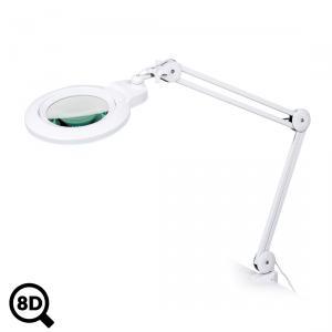 Pracovná LED lampa s lupou IB-150, priemer 150mm, 8D