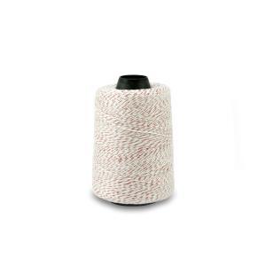 Priemyselná bielo / červená polyesterová (PES) šijacia niť pre vrecovačky 400m