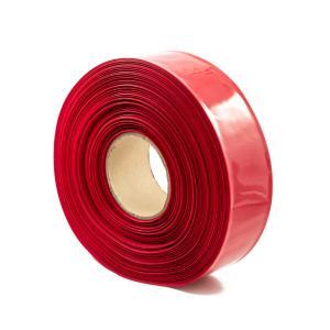 Teplom zmrštiteľná PVC fólia - červená 40mm