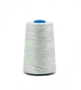 Priemyselná bielo / zelená polyesterová (PES) šijacia niť pre vrecovačky 800m
