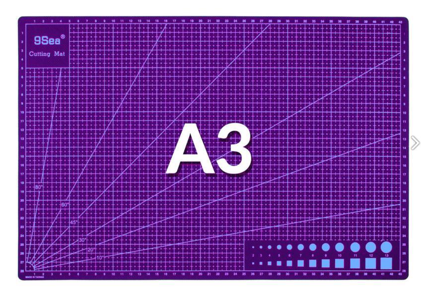 Rezná obojstranná pracovní podložka fialová A3 fialová 45x30cm